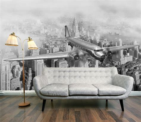 airplane wall murals wall paper mural furnish burnish