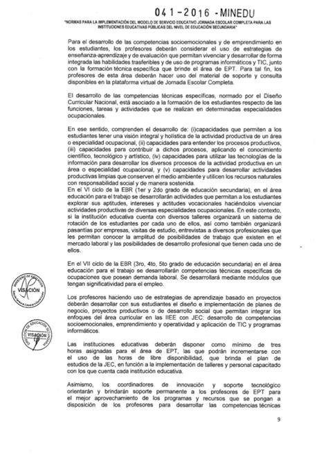 programas curriculares jec rsg n 176 041 2016 minedu nt jec