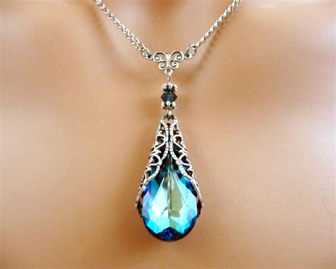 Swarovski Jewelry Necklace Gift Blue