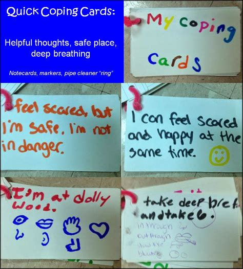 coping card template cbt coping cards images