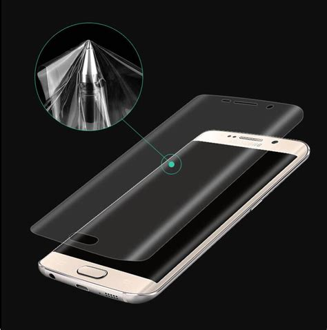 Protector Samsung Galaxy S 6 Edge 3d coverage curved screen protector for samsung