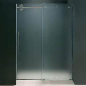 bypass glass shower doors vigo elan 60 in x 74 in frameless bypass shower door in