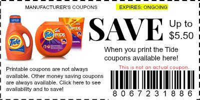 printable tide detergent coupons tide coupons manufacturer coupons
