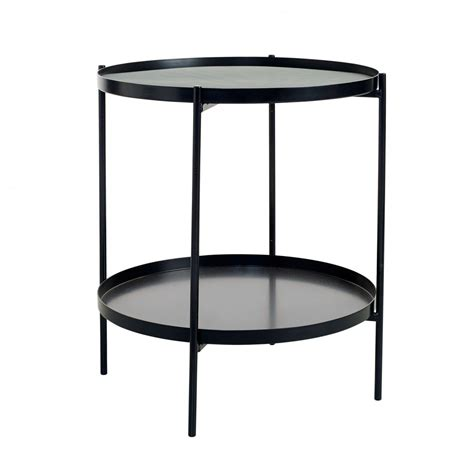 Tray Side Table by Tray Side Table S Black Bolia