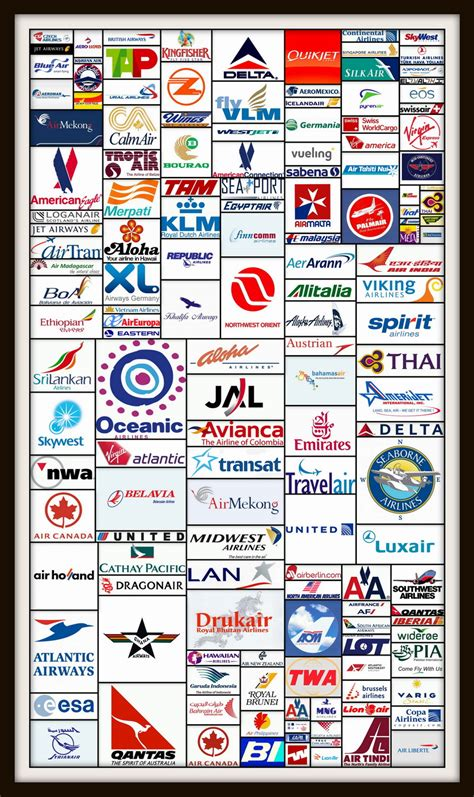 list of all company logos in the world top airlines logos images