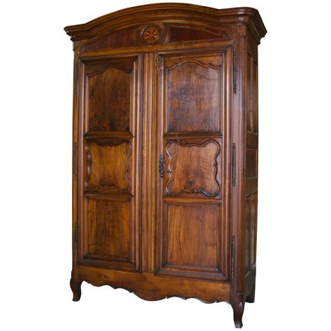 Large Armoires For Sale large louis xv armoire in walnut for sale at 1stdibs