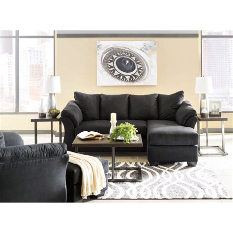signature design by ashley darcy sofa chaise signature design by ashley darcy black 7500818