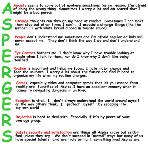 test sindrome asperger quotes about aspergers quotesgram