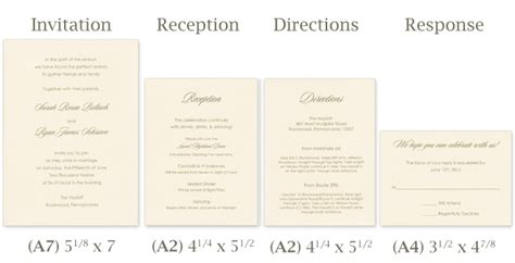 wedding card size template standard invitation size template best template collection