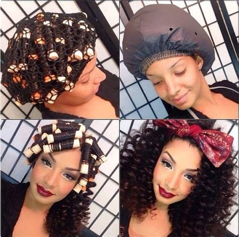 aleeping in petm rods roller curls before and after www imgkid com the image
