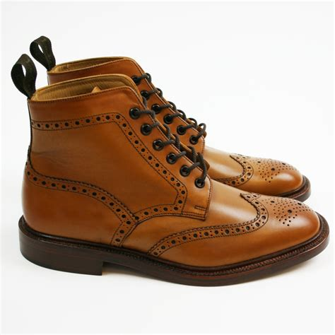 brogues boots loake brogue boot burford mod shoes