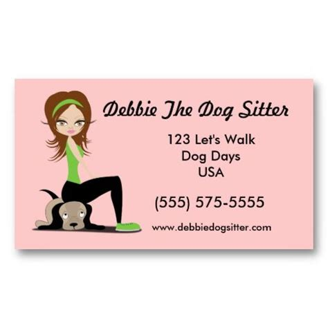Free Walking Business Card Template by Pet Sitting Walking Custom Promotion Business