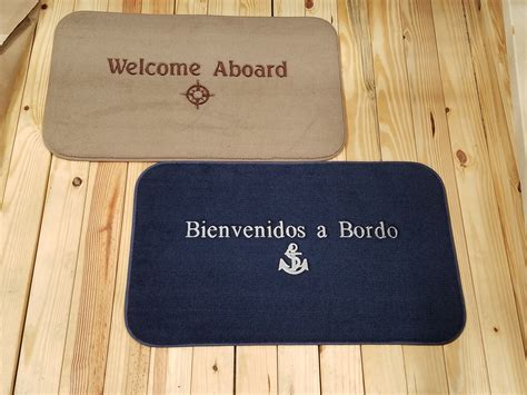 Welcome Aboard Mat by Marine Yacht Boarding Dock Deck Mats The Matworks Ltd Matworks Ltd Premium Custom
