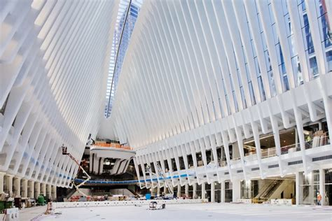 zero one design center calatrava s transportation hub finally takes flight