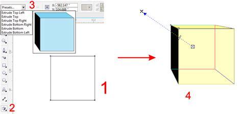 jelaskan cara membuat gambar 3d kubus sederhana cara membuat tulisan dan box efek 3d dengan corel draw