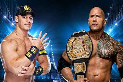dwayne johnson the rock vs john cena the rock vs john cena official for wrestlemania 29 main