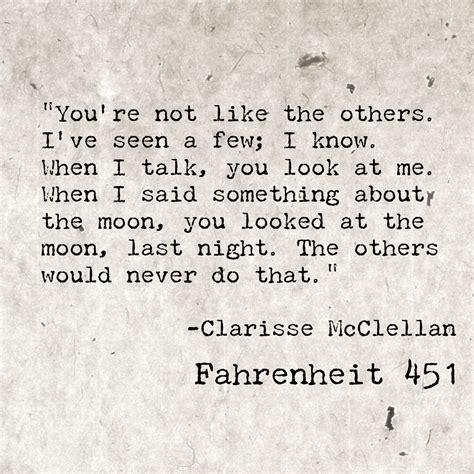 clarisse mcclellan fahrenheit       quote summarizing  clarisse feels