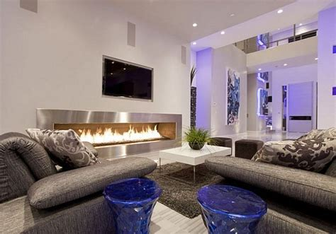 cozy modern living room modern living room with large cozy fireplace decoist