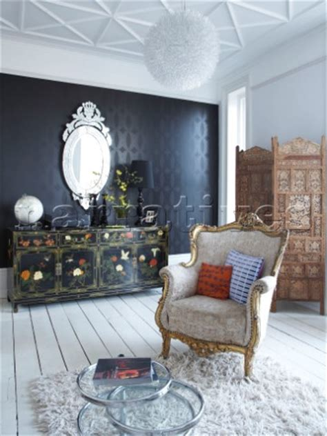 black feature wall living room bp009 11 black feature wall with painted sideboard in narratives photo agency