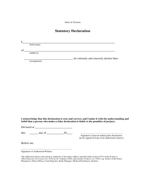 Common Declaration Letter Statutory Declaration Form 13 Free Templates In Pdf Word Excel