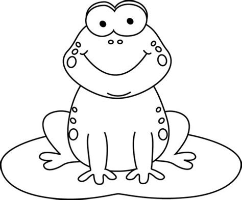 Colouring Pad Baby Animals black and white frog on a pad coloring animals frogs and clip