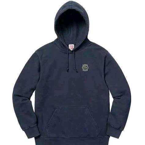 Hoodie Jket Supreme Navy supreme x lacoste hoodie navy sweatshirts strictlypreme
