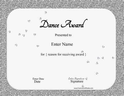 templates for dance certificates free dance certificate template customizable and printable