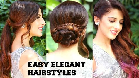 easy elegant romantic hairstyles indian party