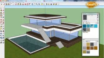 House Design Sketchup Youtube by 1 Modern House Design In Free Google Sketchup 8 How