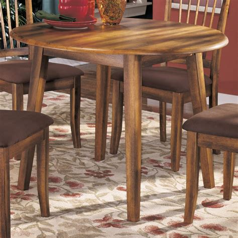ashley furniture kitchen table ashley furniture berringer d199 15 hickory stained hardwood round drop leaf table del sol