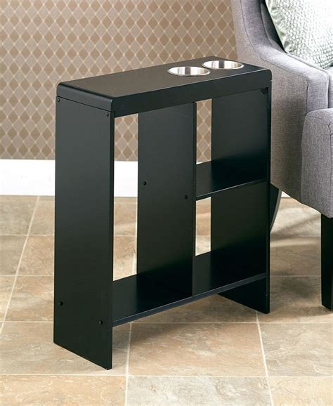 space saving end table narrow space saving side end table drink holder