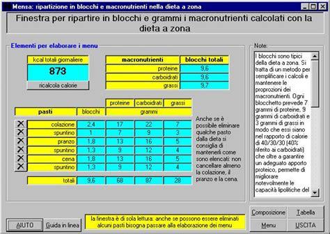 tabella alimenti zona analisi della dieta zona pro e contro agrodolce