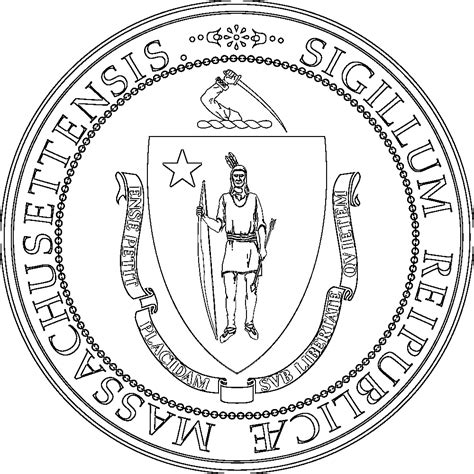 massachusetts flags emblems symbols outline maps