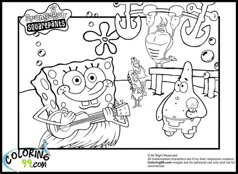spongebob coloring pages team colors