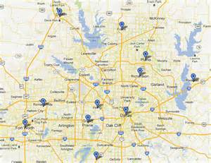 map of dallas and suburbs departments across dallas fort worth adopt nextdoor