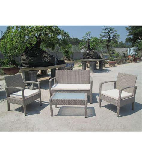 set giardino set da giardino con 2 sedie 1 divano e 1 tavolino con