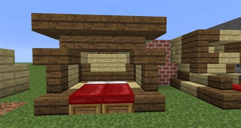 Minecraft Bed by 12w34b Elaborate Beds Minecraft Project