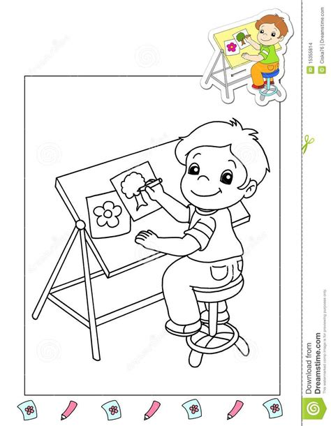 coloring book illustrator coloring book of the works 36 illustrator stock images