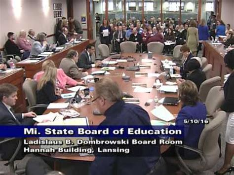 Of Michigan Part Time Mba Tuition by Michigan State Board Of Education Meeting For May 10 2016