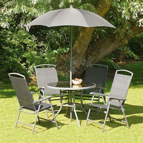 Tesco Patio Set by Buy Black 92cm 4 Seat Garden And Patio Set From Our