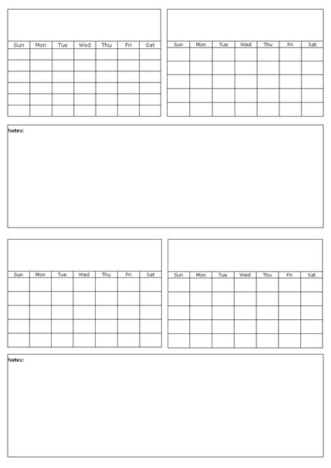 calendar template with picture space printable calendar