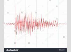 Earthquake Wave Graph Chart Seismograph Audio Stock Vector ... Seismograph Diagram