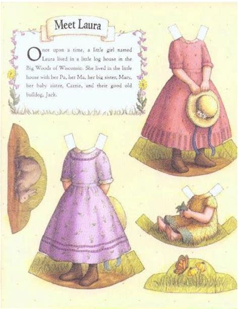 little house paper dolls little house on the prairie pd 1500 free paper dolls at arielle gabriel s the