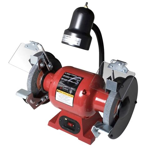 1hp bench grinder 1 2 hp 6 in bench grinder w light sunex international