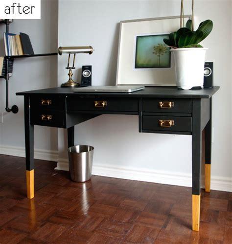 Desk Painting Ideas Before After Painted Desk Decoupaged Side Table Design Sponge
