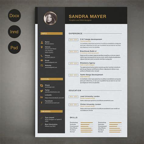 B Resume Templates by Resume Template B Resume Templates On Creative Market