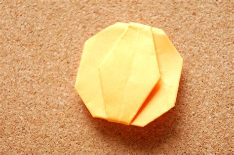 How To Make A Paper Pumpkin - how to make an origami pumpkin 14 steps with pictures