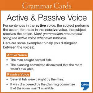 Active Voice In Essay Writing Means by Active Passive Voice Completely Learning With Exles Hold