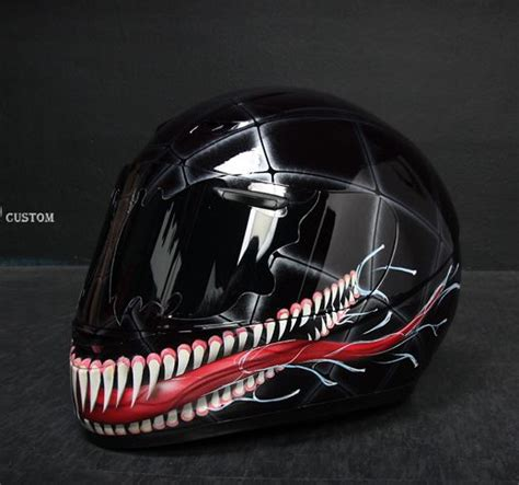 design airbrush helm full face details about venom2 airbrushed motorcycle custom paint