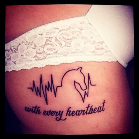 heartbeat tattoo with horse worst horse tattoos ever x 1 000 000 lazer horse